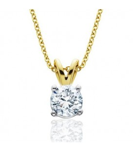 More about 0.75 Carat Diamond Solitaire Necklace 18Kt Yellow Gold