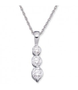 More about 0.50 Carat Round Cut Diamond Necklace in 18Kt White Gold