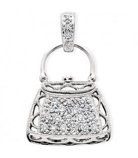 More about 0.27 Carat Round Cut Diamond Pendant in 14Kt White Gold