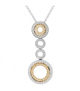 More about 0.68 Carat Round Cut Diamond Necklace in 14Kt Two Tone Gold