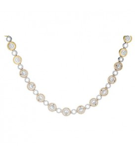 More about 1.87 Carat Round Cut Diamond Necklace in 14Kt Two Tone Gold