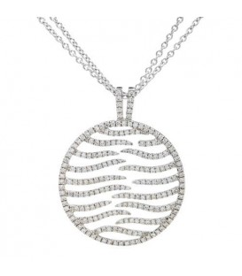 More about 0.87 Carat Round Cut Diamond Necklace in 14Kt White Gold