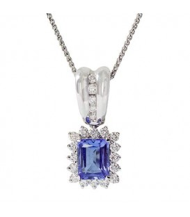 More about 3.01 Carat Heart Cut Tanzanite Pendant 14Kt White Gold
