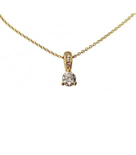 More about 0.39 Carat Round Cut Diamond Pendant 14Kt Yellow Gold