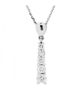 More about 0.50 Carat Round Cut Diamond Pendant in 14Kt White Gold