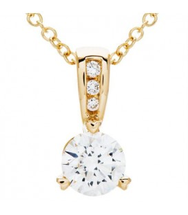 More about 0.71 Carat Round Cut Diamond Solitiare Necklace in 14Kt White Gold
