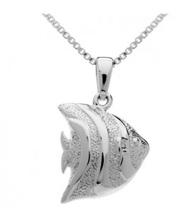 Necklaces - Angelfish Charm Pendant 925 Sterling Silver