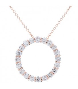 More about 1.25 Carat Round Cut Diamond Necklace in 14Kt Rose Gold