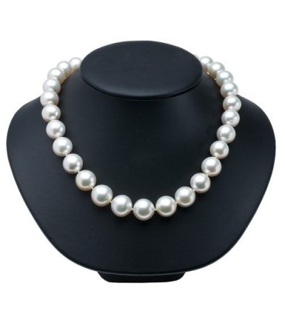 12-15mm White Cultured South Sea Pearl Necklace with a 14Kt White Gold Clasp