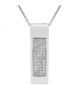 More about 0.16 Carat Round Cut Diamond Diamond Necklace 14Kt White Gold