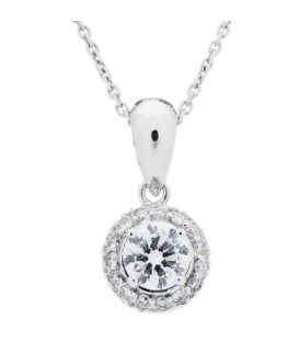0.75 Carat Diamond Pendant 18Kt White Gold