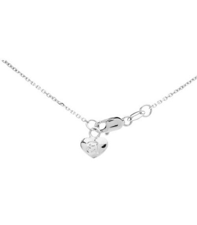 0.25 Carat Diamond Necklace 18Kt White Gold