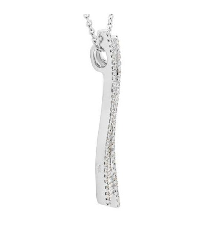 0.52 Carat Diamond Pendant 18Kt White Gold