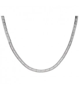 Necklaces - 2.12 Carat Diamond Necklace set in 18Kt White Gold