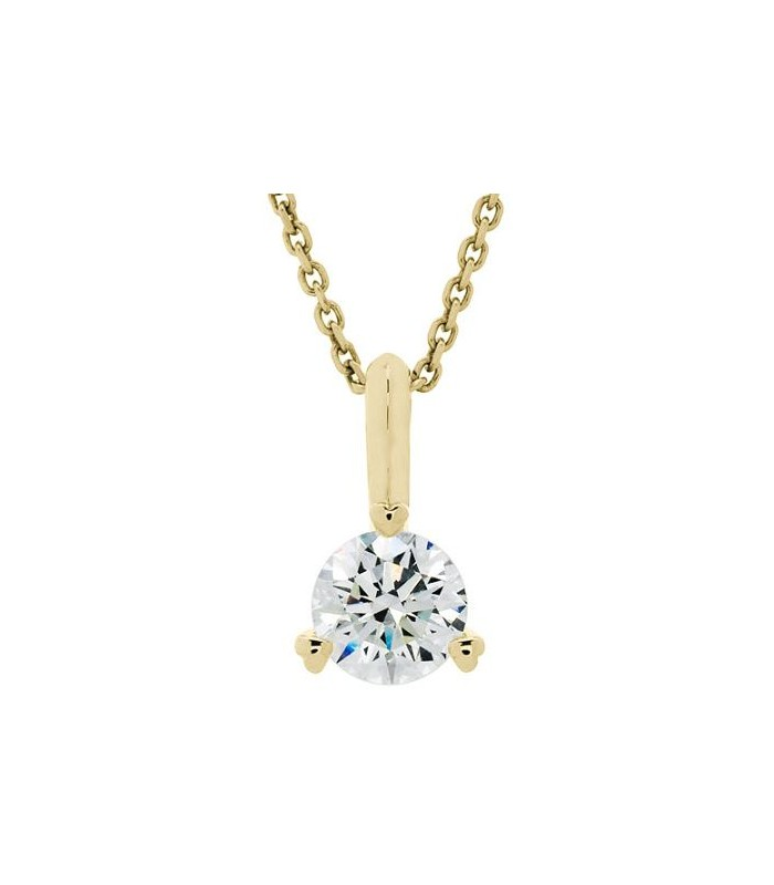Round cut 050ct eternitymark diamond solitiare necklace 18kt yellow necklaces 050 carat diamond solitaire necklace 18kt yellow gold aloadofball Choice Image