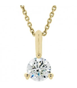 Necklaces - 1.00 Carat Diamond Solitaire Necklace 18Kt Yellow Gold