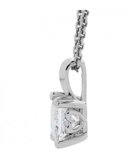 0.50 Carat Princess Cut Eternitymark Diamond Necklace 18Kt White Gold