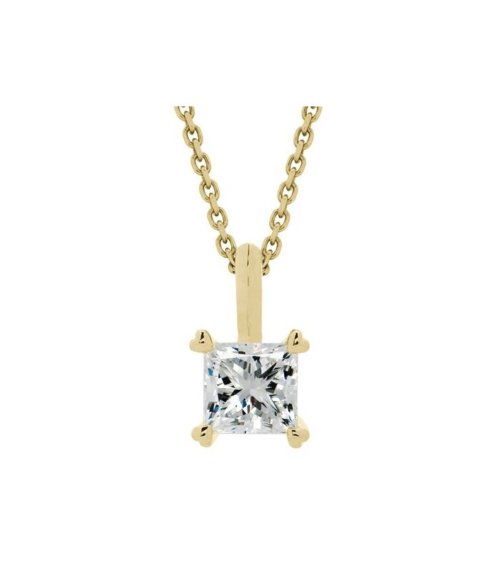 Princess Cut 0 75ct Eternitymark Diamond Necklace 18kt