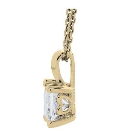 1.00 Carat Princess Cut Eternitymark Diamond Necklace 18Kt Yellow Gold