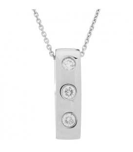 0.25 Carat Diamond Pendant 18Kt White Gold