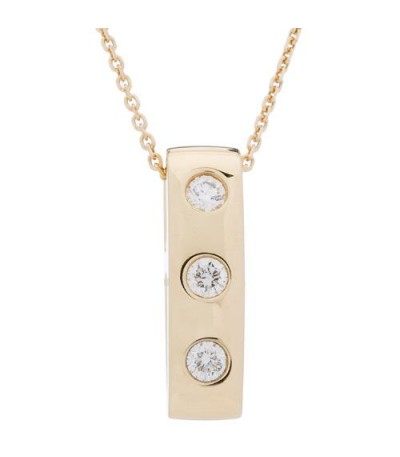 Necklaces - 0.25 Carat Diamond Pendant 18Kt Yellow Gold