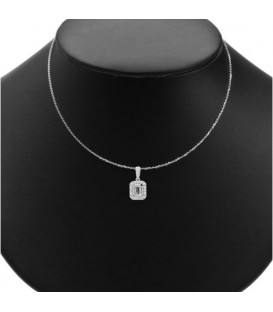 0.50 Carat Diamond Pendant 18Kt White Gold