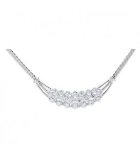 Necklaces - 2.50 Carat Diamond Necklace featured in 18Kt White Gold.