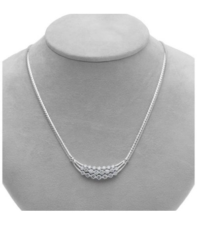 2.50 Carat Round Brilliant Eternitymark Diamond Necklace 18Kt White Gold