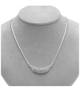 2.50 Carat Diamond Necklace featured in 18Kt White Gold.