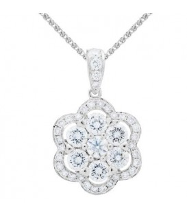 More about 1.25 Carat Diamond Pendant 18Kt White Gold