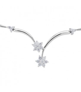 1.01 Carat Classic White Gold Diamond Necklace in 18Kt White Gold