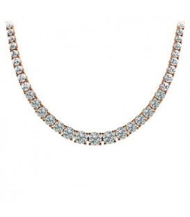 Necklaces - 7.00 Carat Diamond Necklace 18Kt Rose Gold