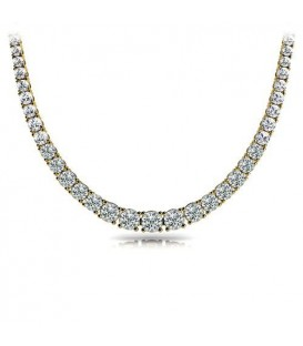 Necklaces - 7.00 Carat Diamond Necklace 18Kt Yellow Gold