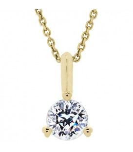 Necklaces - 0.62 Carat Pristine Hearts Pendant 18Kt Yellow Gold