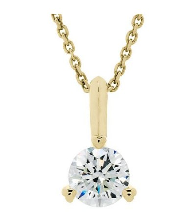 Necklaces - 0.51 Carat Round Cut Eternitymark Diamond Pendant 18Kt Yellow Gold