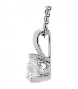0.73 Carat Round Cut Eternitymark Diamond Pendant 18Kt White Gold