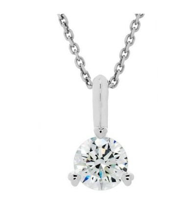 Necklaces - 1.03 Carat Round Cut Eternitymark Diamond Pendant 18Kt White Gold