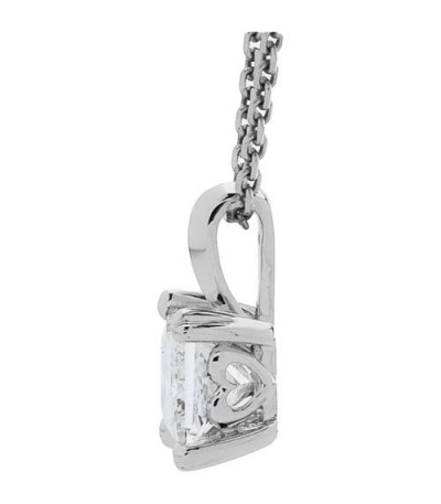 1.01 Carat Princess Cut Eternitymark Diamond Pendant 18Kt White Gold