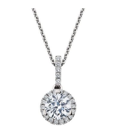 Necklaces - 0.50 Carat Eternitymark Diamond Pendant 18Kt White Gold