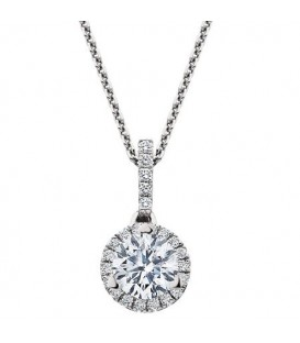 0.62 Carat Eternitymark Diamond Pendant 18Kt White Gold