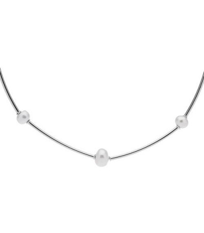 Necklaces - Cultured Freshwater Pearl Necklace 925 Sterling Silver
