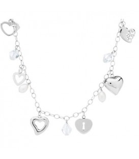 Necklaces - Cultured Freshwater Pearl, Crystal 925 Sterling Silver Necklace