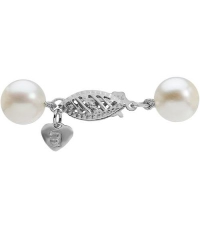 7-8mm White Cultured Freshwater Pearl Necklace with a 14Kt White Gold Clasp