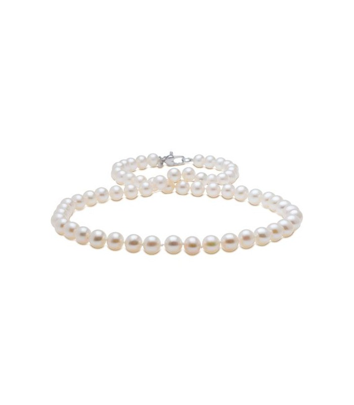 bd6e2c714fa54 Cultured Freshwater Pearl Strand 7-8mmm Sterling Silver I Amoro