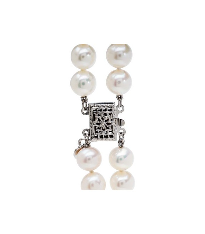 8bfeb1757 7-8mm White Cultured Freshwater AA quality Pearl Necklace with a 925  Sterling Silver Clasp