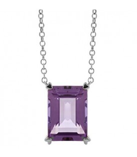 More about 10 Carat Amethyst in 925 Sterling Silver Necklace