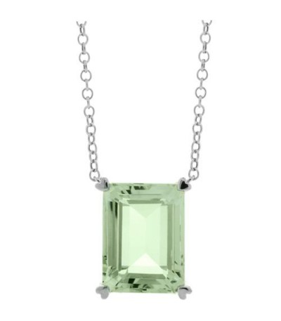 Necklaces - 10 Carat Praseolite Necklace in 925 Sterling Silver