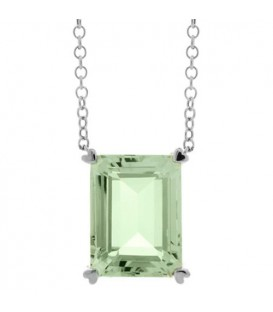 More about 10 Carat Praseolite Necklace in 14 Karat White Gold