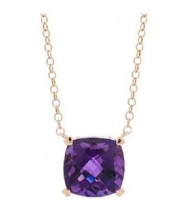 More about 7 Carat Amethyst Necklace in 14 Karat Yellow Gold
