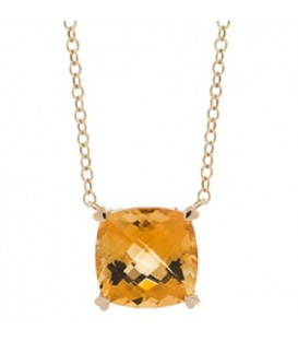 5.75 Carat Citrine Necklace in 14Kt Yellow Gold